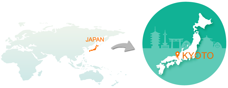 map,CO-CONV is based in Kyoto, Japan